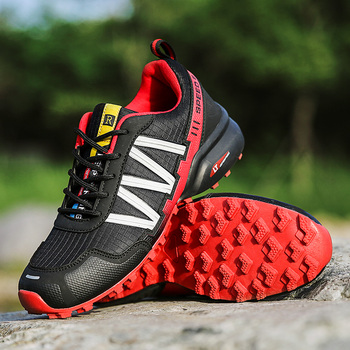 High Quality Men Sneakers Men Trail Trekking Shoes Men Outdoor Non-slip Hiking Sneakers Breathable Fashion Climbing Sports Shoes rax hiking shoes men waterproof trekking shoes lightweight breathable outdoor sports sneakers for men climbing leather shoes