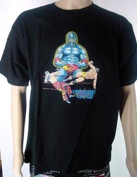 Camiseta de Lucha Libre-presión de la máscara azul de blackz Groe XL NEU