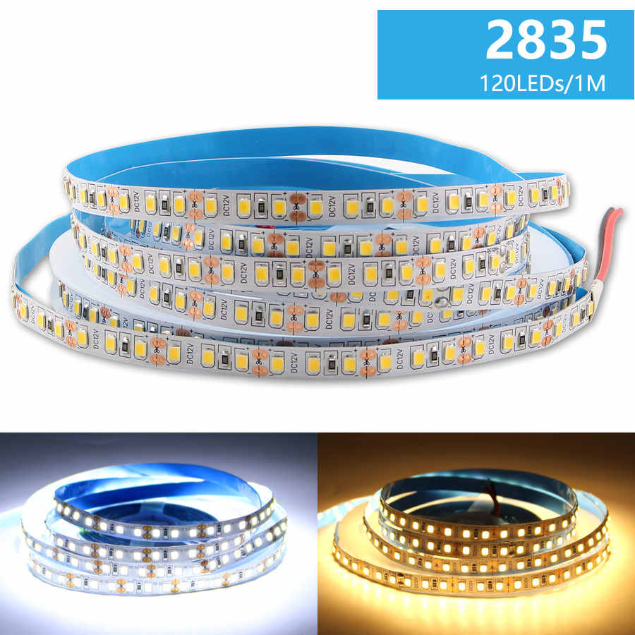 12 V RGB LED Strip Lampu Tahan Air 2835 5M 60 LED 120 LED 12 V LED RGB Lampu Strip TV Backlight Pita Fleksibel Tape Pita Lampu