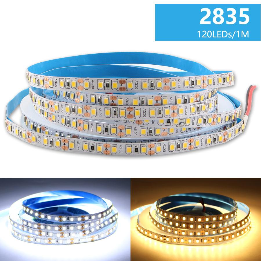 12V RGB LED Strip Light Waterproof 2835 5M 60Leds 120Leds 12 V LED RGB Light Strip TV Backlight Tape Flexible Tape Ribbon Lamp