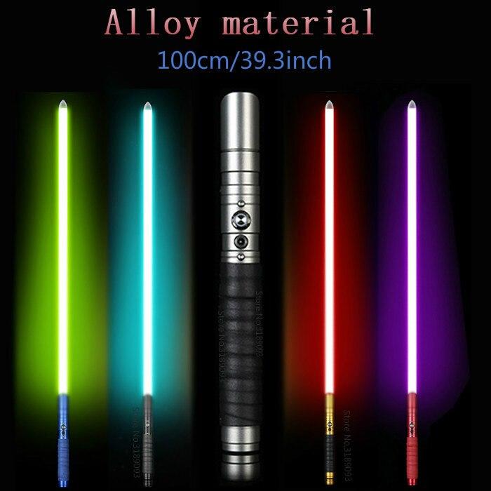 Éclairage extérieur métal sabre laser Jedi Luke sabre lumière Force duel Rechargeable couleur changeante son Foc poignée épées jouets