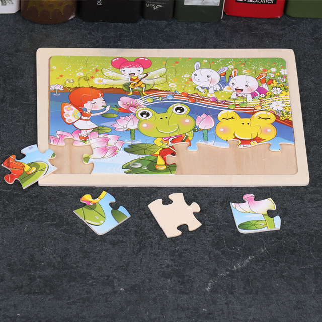 24 Slice Wood Puzzles Children Adults Vehicle Puzzles Wooden Toys Learning Education Environmental Assemble Educational Games 5