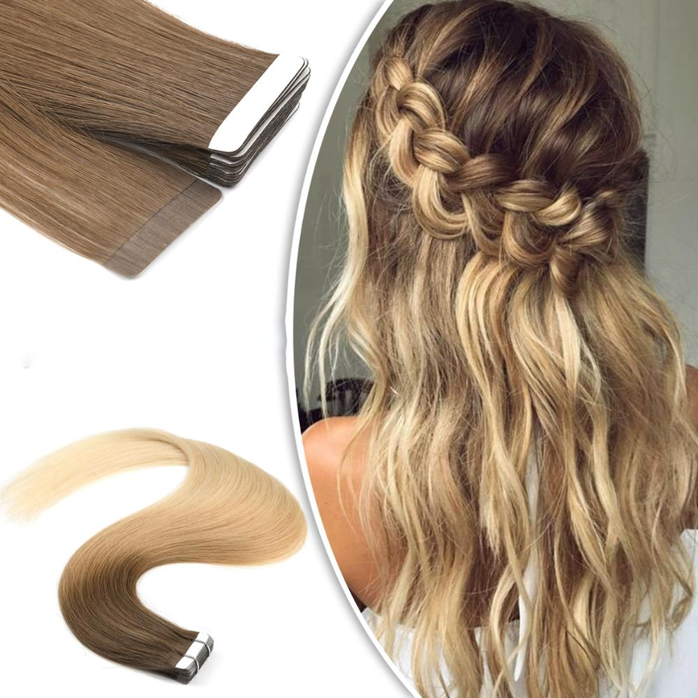 Neitsi прямая машина Remy человеческие волосы лента для наращивания 12