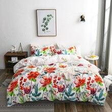Fashion Floral Bedding Set Love Flowers Duvet Cover Pillowcase Twin Queen King Size Fresh Bedclothes Bedlinen цена 2017