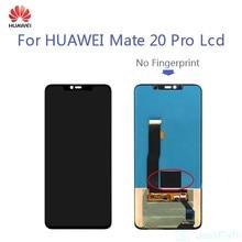 Orijinal kusur süper AMOLED Huawei Mate 20 PRO LCD Mate20 Pro LCD ekran dokunmatik ekran Digitizer meclisi parmak izi