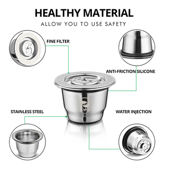 Capsule For Nespresso Reutilisable Inox 2 In 1 Usage Refillable Capsule Crema Espresso Reusable Refillable Coffee Filter 5