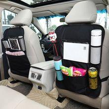 J2FF Car Seat Back Protector Cover For Children Baby Black Anti Dirty Kick Mat Protect Storage Bag Car Back Seat Organizer