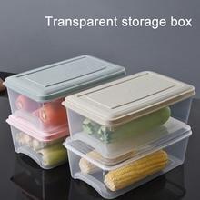 Kitchen Storage Box Sealing Food Preservation Plastic Fresh Pot Container Transparent Sealed Crisper Set Plastic Organization
