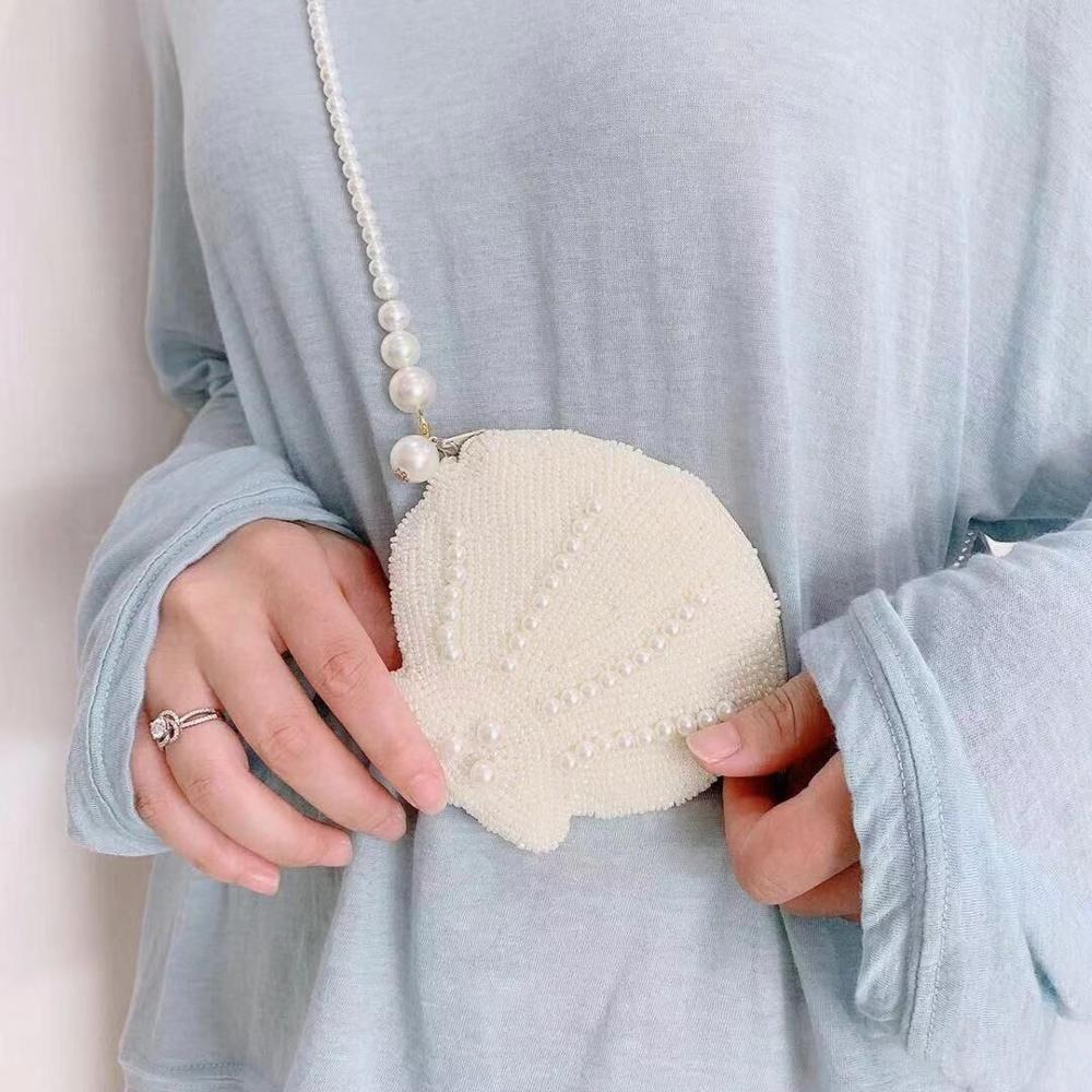 White  pearl change purse
