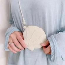 Белая жемчужная сумочка для монет angelaперсонажи с бусинами