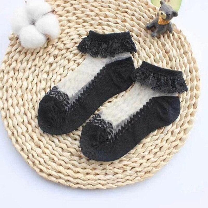3pairs/Lot Princess Cotton Socks Lace Socks Soft Ruffled Summer Breathable 3