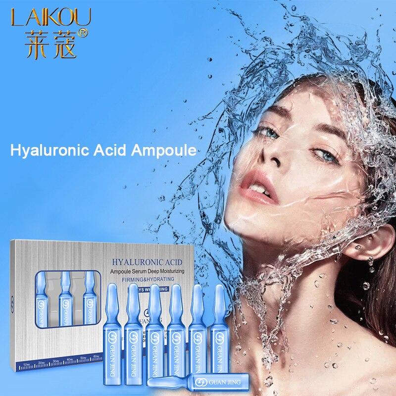 LAIKOU ampolla de ácido hialurónico, suero facial hidratante, esencia reparadora de piel, poros retráctiles nutritivos, suero para el cuidado de la piel|Suero| - AliExpress