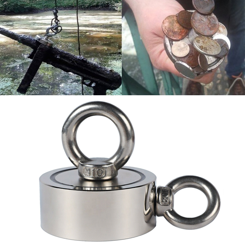 New 400KG Super Strong Magnet Pot Fishing Magnets Salvage Fishing Hook Magnets Strongest Permanent Powerful Magnetic With 10M Ro
