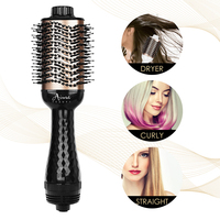 Electric Hair Brush One Step Hair Dryer Styler Brush Hot Air Iron Hair Straightener Comb Automatic Wave Formers Hair Curler 6