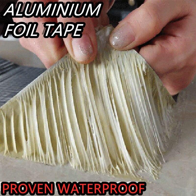 Прочная алюминиевая фольга клейкая бутиловая лента водостойкая клейкая лента супер ремонт трещина бутиловая водонепроницаемая лента Инст...