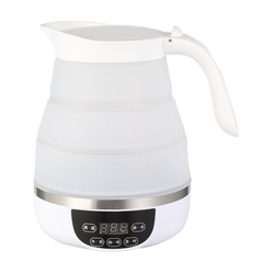 Electric Kettle Silicone Foldable Portable Travel Camping Water Boiler Adjustable Voltage Home Electric Appliances