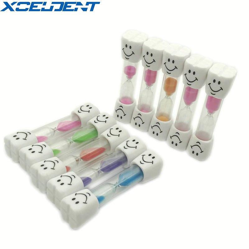 20pcs/10pcs/5pcs Dental Toothbrush Timer 3 Minutes Smile Sandglass Tooth Brushing Hourglass Gift Sand Clock For Children Kids