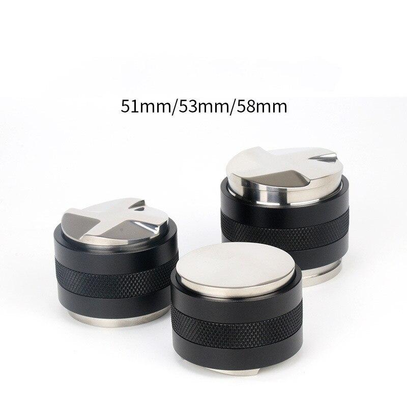 Coffee Distributor 51 53 58MM  2 In 1 Espresso Tamper Stainless Espresso Maker Adjustable Tamper Corner Mat موزع القهوة