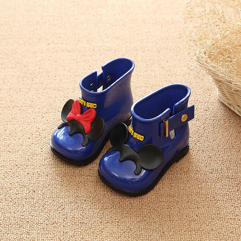 Kinderen Schoenen 2019 Nieuwe kinderen Regen Laarzen Jongens en Meisjes antislip Rubber Schoenen kinderen Regen laarzen Baby Boog Water Schoenen