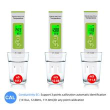 new tds ph meter ph tds ec temperature meter digital water quality monitor tester for pools drinking water aquariums 5 in 1 TDS/EC/Salinity/S.G./Temperature Meter Digital Water Quality Tester for household Pools Drinking Water Aquarium