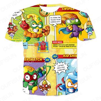 2021 letnie chłopcy i dziewczęta drukowanie 3D koszulki Super Zings ubrania nowy styl Harajuku klasyczny T-shirt dzieci dziecko odzież dla dzieci tanie i dobre opinie POLIESTER spandex CN (pochodzenie) Nowość W stylu rysunkowym REGULAR Z okrągłym kołnierzykiem tops Z KRÓTKIM RĘKAWEM