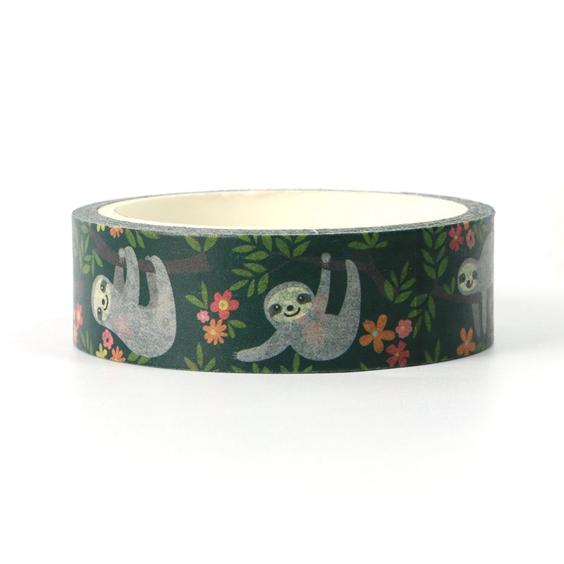 NEW 1X Cute Washi Tape Animal Sloth Design For DIY Planner Scrapbooking Decorative Masking Tapes School Office Supplies