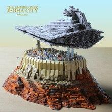 2019 חדש MOC כוכב סדרת מלחמת משחתת את אימפריה מעל Jedha עיר דגם בניין בלוקים לבני צעצועי יום הולדת