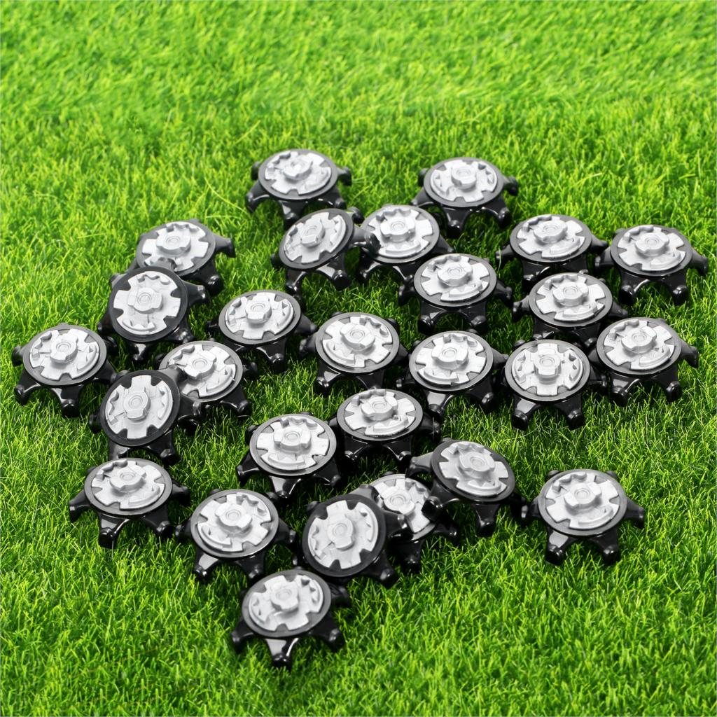 28Pcs TPR Golf Shoe Spikes Replacement Champ Cleats Pins Fast Twist Turn Screw Studs Stinger Golf Accessories Golf Training Aids