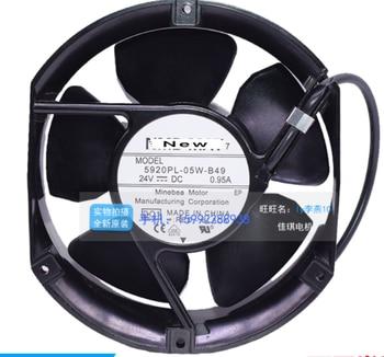 For NMB-MAT 5920PL-05W-B49 D50 DC 24V 0.95A 3-wire 125x125x35mm Server Cooling Fan