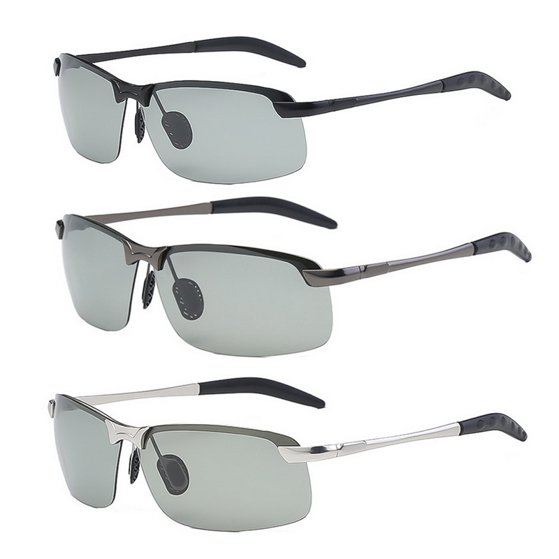 <font><b>Driver</b></font> Goggles Photochromic Sunglasses Men Polarized Chameleon Discoloration Sun <font><b>Glasses</b></font> Driving <font><b>Glasses</b></font> <font><b>For</b></font> Indoor And Outdoor image