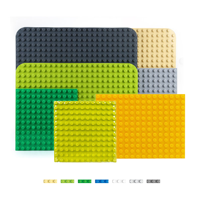 Building Blocks Base Plate Diy Big Size Compatible With Duploed  Classic Base Plates 19X19 144 Dots Toys For Children Kids Gifts