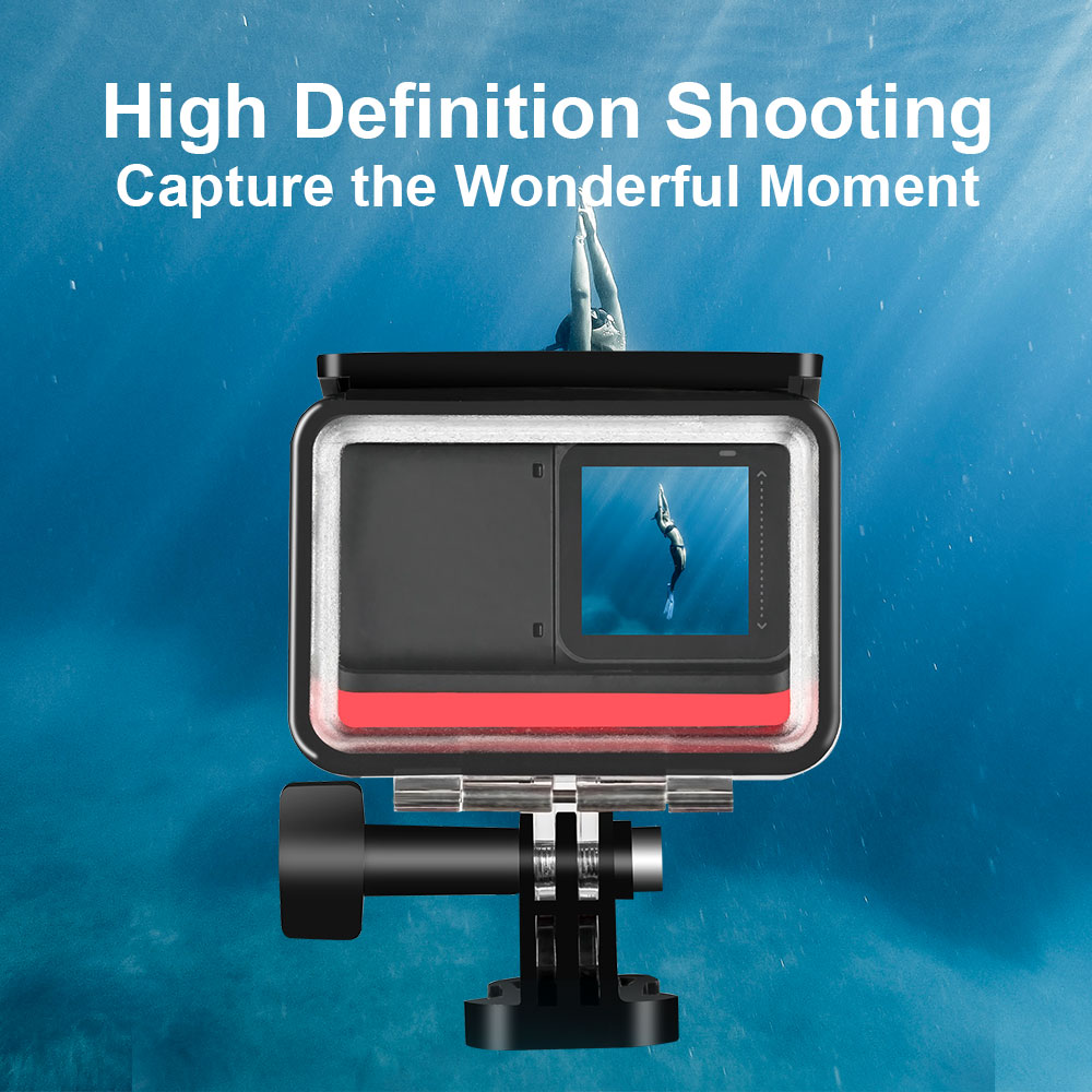 TELESIN 45M Underwater Housing Case Waterproof Case Lens Cover Protector for Insta360 ONE R 4K 360 Edition Camera Accessories 5