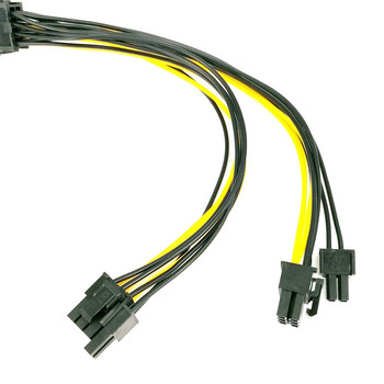 Power Splitter Cable Power Splitter Cable PCI-e 8pin To Dual 8Pin / PCIe 8pin-2x(6+2pin) Graphics Video Card Power Cable 2021 image