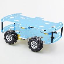Car-Chassis-Kit Robot Mecanum-Wheel Omni-Directional Raspberry Pi Arduino with 4pcs TT