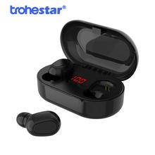 TWS Bluetooth Earphone With Microphone LED Display Wireless Bluetooth Earbuds Earphones Waterproof Noise Cancelling NFC аудио колонка nfc bluetooth nfc bluetooth seenda ibt 08 nfc