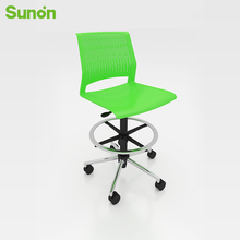 High Quality Ergonomic Staff with Stainless Wheel Chairs Comfortable Green Back Lift Chair for Office Cafe Fast Shipping