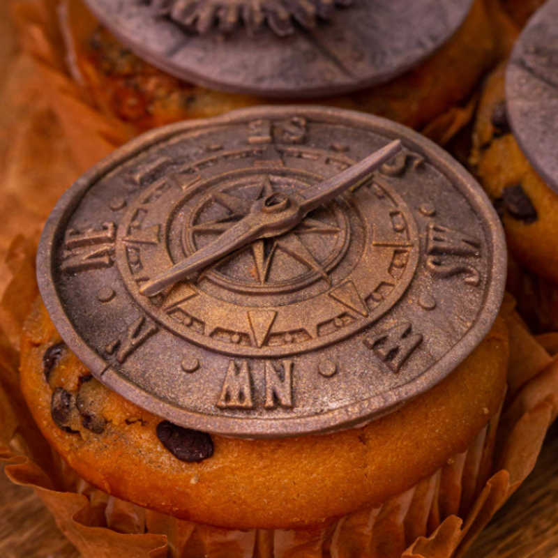 アンティークコンパスシリコーン型フォンダンケーキ装飾ツールシリコーン金型 sugarcrafts チョコレートケーキ用のベーキングツール gumpaste フォーム