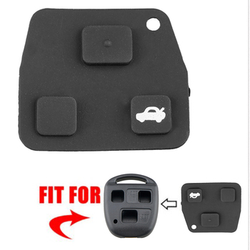 Excellent Craftsmanship 3 Buttons Rubber Pad Well Enduring for TOYOTA Corolla Avensis Aygo Lexus Remote Car Key Shell image