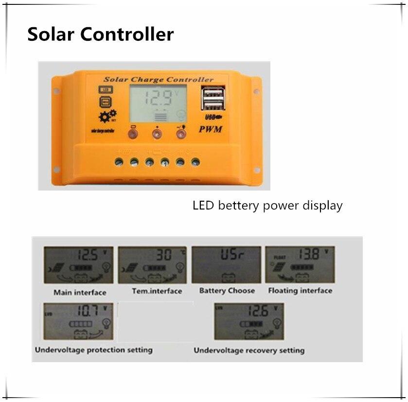 12 v 50w sistema solar fotovoltaico kit