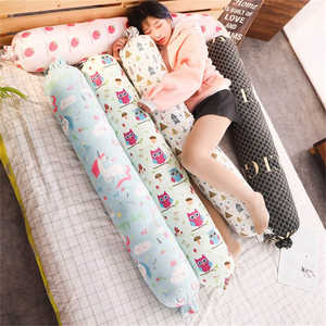Strip-Pillow Cushion Cylindrical Pregnant-Side Long Cotton Cute Plush Washable And Removable