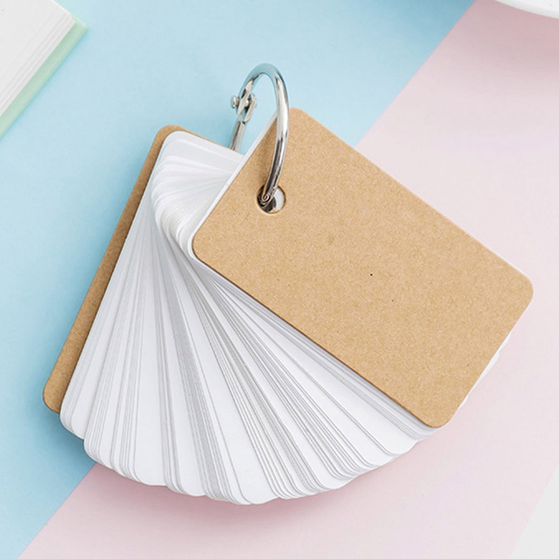 Empty Page Blank Kraft Paper 230 Pages Notepad Word Study Card Portable Memo Pad Loose Leaf Notes DIY Notepad