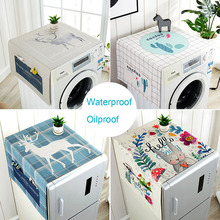 Waterproof Washing Machine Cover Refrigerator Cover Microwave Oven Cover Household Kitchen Refrigertor Dust Cover with Pocket цена 2017