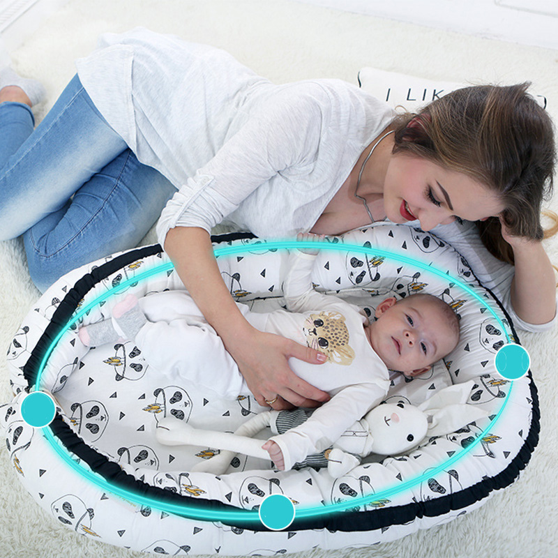 Newborn Baby Portable Crib Travel Bed Nest Bed Crib Cotton Crib Travel Bed Removable And Washable Children Infant Kids Nest Bed