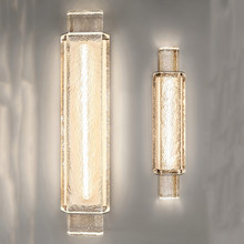 Jmzm Modern Crystal Wall Lamp Transparent Wall Light Luxury Sconce Mirror Light Living Room Bedroom Loft Simple LED Stair Lamp