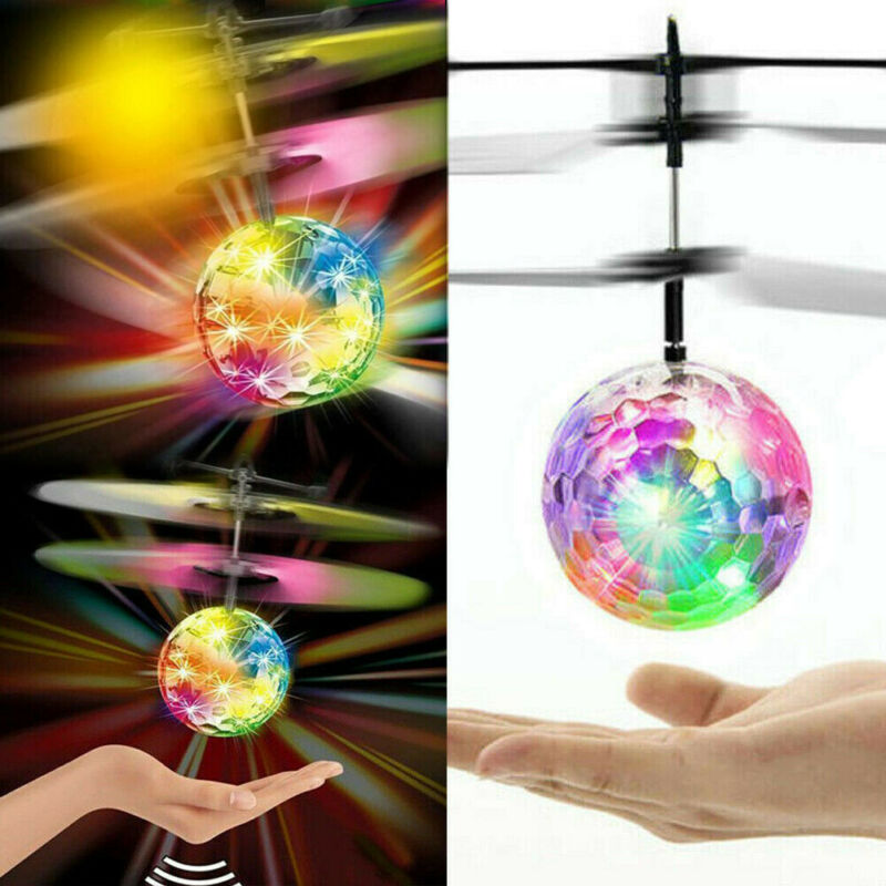 New Flying UFO Helicopter Ball Kid Toy LED Hovering Saucer Infrared Sensor Floating Induction Colorful Flying Crystal Ball Toy