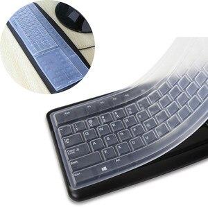 1 шт. силиконовый настольный компьютер Прозрачный чехол для клавиатуры Пылезащитный Водонепроницаемый Защитная пленка прочная Экологичес...