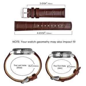 Image 5 - Ремешок кожаный для мужских и женских часов, с тиснением под Аллигатор