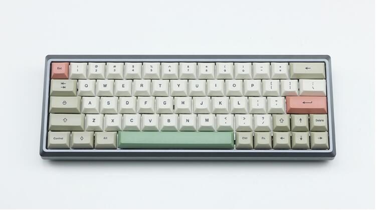 DSA keycap with dyesub printing 75 keys for gk64 <font><b>68</b></font> keyboards dye sub <font><b>keycaps</b></font> for mechanical keyboard image