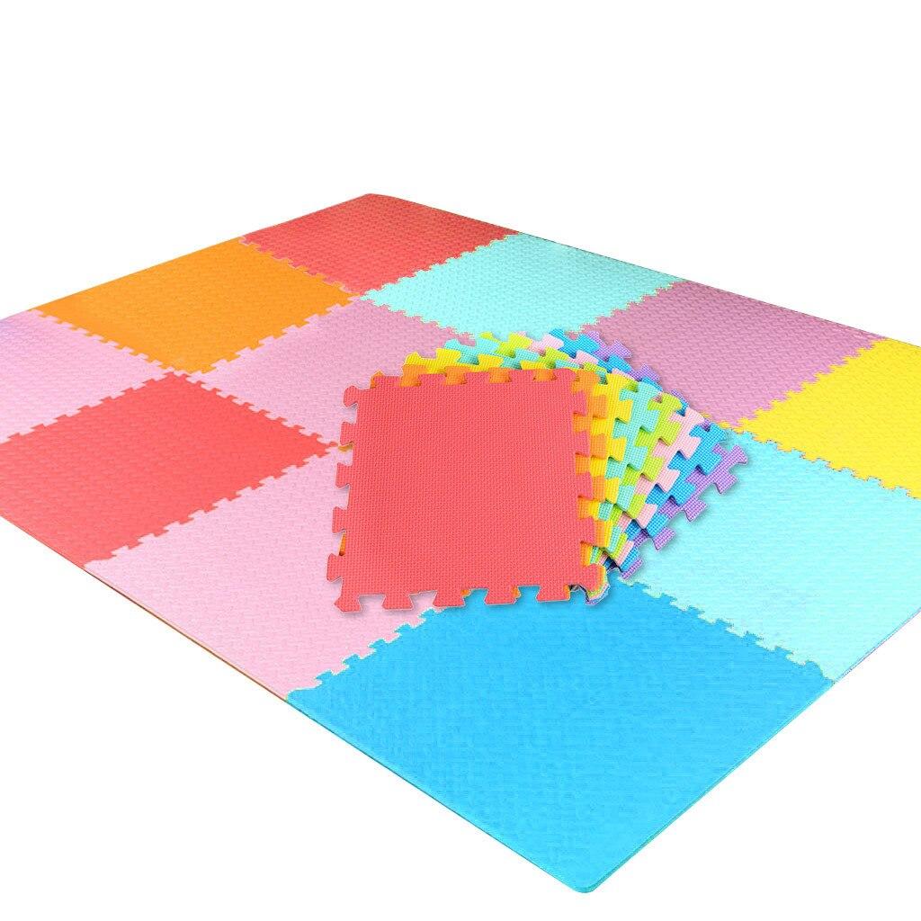 H171c22c4863343ce87e2cd8fadb11cadm 18 PCS Baby Kids Play Mat Multi-Color Puzzle Excise Crawl Mat EVA Foam Floor Safe Playmat Childrens Puzzle Carpet Toys Gifts