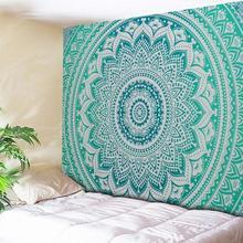 Большой индийский Гобелен Мандала, настенное одеяло, полотенце для йоги, подвесной платок, полиэстер, богемный коврик, пляжное одеяло, тонкое